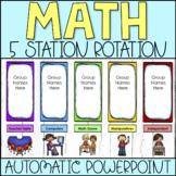 Math Centers Rotation PowerPoint Chart