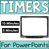PowerPoint Timers - 5 minutes and 10 Minutes