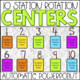Station Rotations Automatic PowerPoint | 10 Stations