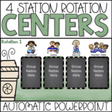 Station Rotations PowerPoint Chart | Coffee Theme