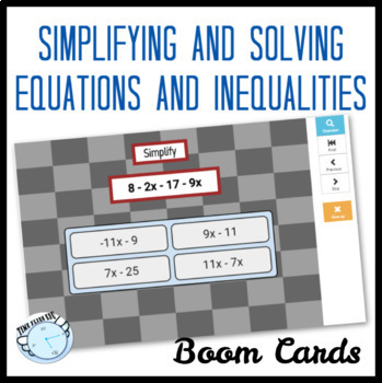 Equations and Inequalities Boom Cards