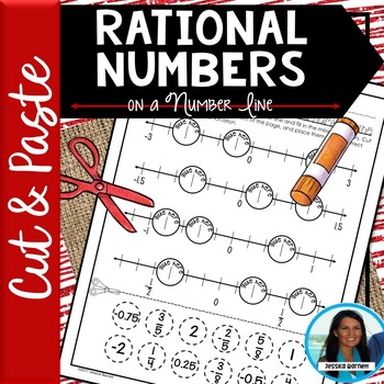 Graphing Rational Numbers on a Number Line Cut and Paste 6.NS.C.6