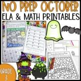 NO PREP Halloween Printables-3rd Grade