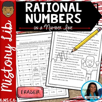 Rational Numbers on a Number Line Mistory Lib Activity 6.NS.C.6