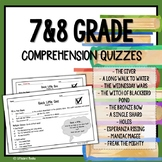 Back to School Bundle 7th Grade and 8th Grade Reading Comprehension