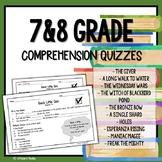 Reading Comprehension Questions (Quick Little Quiz Bundle!)