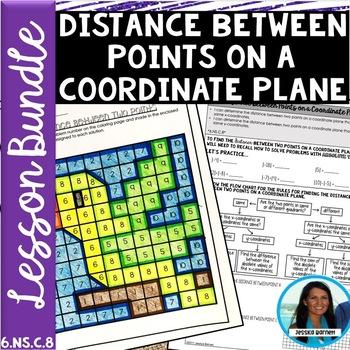 Distance Between Two Points Lesson Bundle 6.NS.C.8