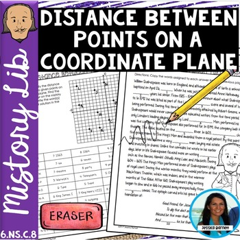Distance Between Two Points Mistory Lib Activity 6.NS.C.8