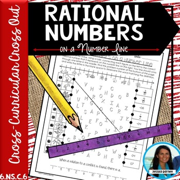 Rational Numbers on a Number Line Cross Curricular Cross Out 6.NS.C.6