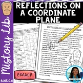 Reflections on a Coordinate Plane Mistory Lib Activity 6.NS.C.6