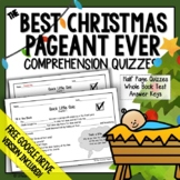 Best Christmas Pageant Ever Comprehension Questions (Chapter Quiz)
