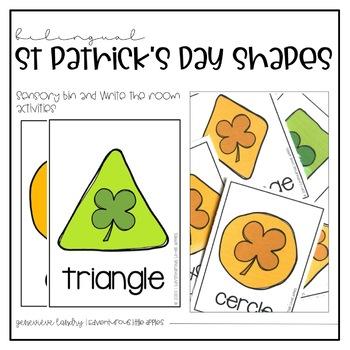 Bilingual St Patrick's Day 2D Shapes