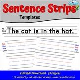 Sentence Strips EDITABLE Template