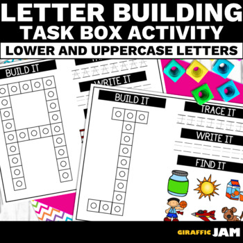 Task Box Activities - Letter Building - Special Education