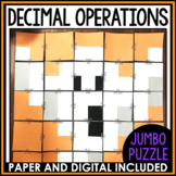 Operations with Rational Numbers Halloween Mystery Puzzle