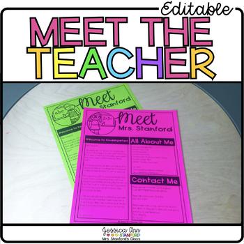 Meet the Teacher | Editable Template for Back to School Newsletter