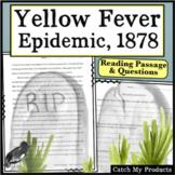 Yellow Fever Historical Fiction Short Story Packet Memphis