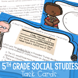 Social Studies Review Task Cards Activity
