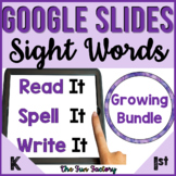Digital Sight Words Practice BUNDLE for Google Slides ™