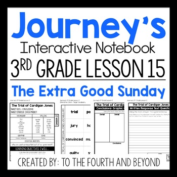 Journeys 3rd Grade Lesson 15 The Extra Good Sunday Interactive Notebook