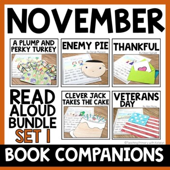 NOVEMBER BUNDLE: 5 Read Alouds with Written Responses and Crafts