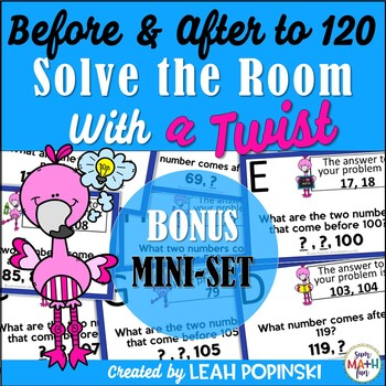 Numeracy | Numbers Before and After to 120-Solve the Room with a TWIST
