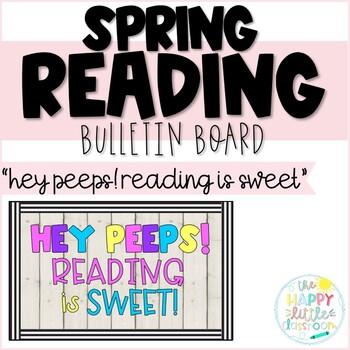 1/2 OFF! Peeps-themed Spring Reading Bulletin Board!