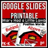 Positional Words Google Slides™ AND Printable | Mary Had a