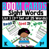 Sight Words Practice for Digital BOOM CARDS ™ List 3 Fry