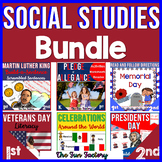 Social Studies Activities Year-Long BUNDLE | Distance Learning