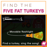 Thanksgiving Music Distance Learning: Find the FIVE FAT TU