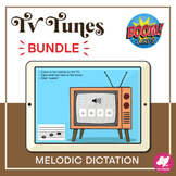 Music Distance Learning: TV Tunes - Melodic Dictation BOOM Cards BUNDLE
