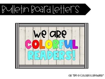 1/2 OFF! We are COLORFUL Readers! A Rainbow-Themed Reading Bulletin Board!