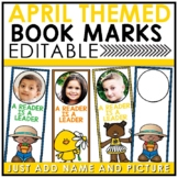 Book Marks APRIL Themed Personalized