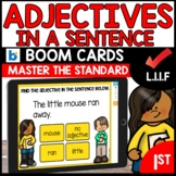 Adjectives L.1.1.F BOOM Cards Distance Learning