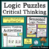 Digital Logic Puzzles and Brain Teasers Printable or Virtual Worksheets