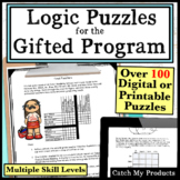 Gifted and Talented Logic Puzzles Worksheets and Easel Documents