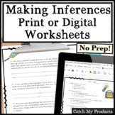 Making Inferences 3rd Grade Worksheets or Google Docs Dist