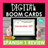 Spanish 1 Review Holiday BOOM CARDS   Spanish Christmas Activity