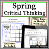 Spring Activity Worksheets in Printable or Virtual Documents
