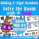 Addition Task Cards {2-Digit} - 2nd Grade - Solve the Room