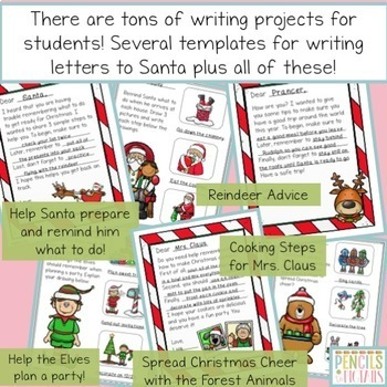 Christmas Crafts and Letter Writing Bundle