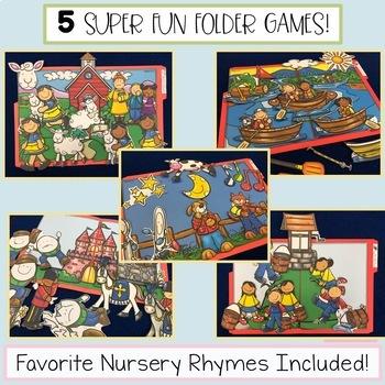 Nursery Rhyme File Folder Tasks - Practice Retelling the Poem - Set 2