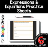 Sixth Grade Digital Practice Sheets- Expressions & Equatio