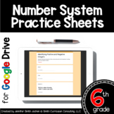 Sixth Grade Digital Practice Sheets- Number Systems for Di