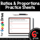 Sixth Grade Digital Practice Sheets- Ratio & Proportions f
