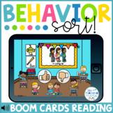 Behavior Sort Back to School Boom Cards™ | Distance Learning