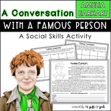 1/2 Off 24 Hours | Conversation Skills Speech Therapy | Amelia Earhart Activity