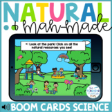 Natural and Man Made Resources Task Cards Distance Learning | Boom Cards™