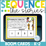 Boom Cards Distance Learning! - Sequencing Stories with Pictures - 4 Steps!